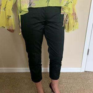 VIKTOR & ROLF Silk/Cotton DesignerSkinny Crop Pant
